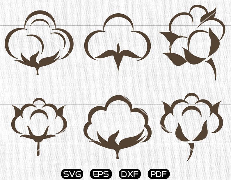 Cotton clipart svg. Boll cricut silhouette cut