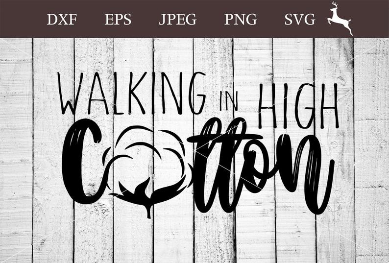 Walking in high svg. Cotton clipart vector