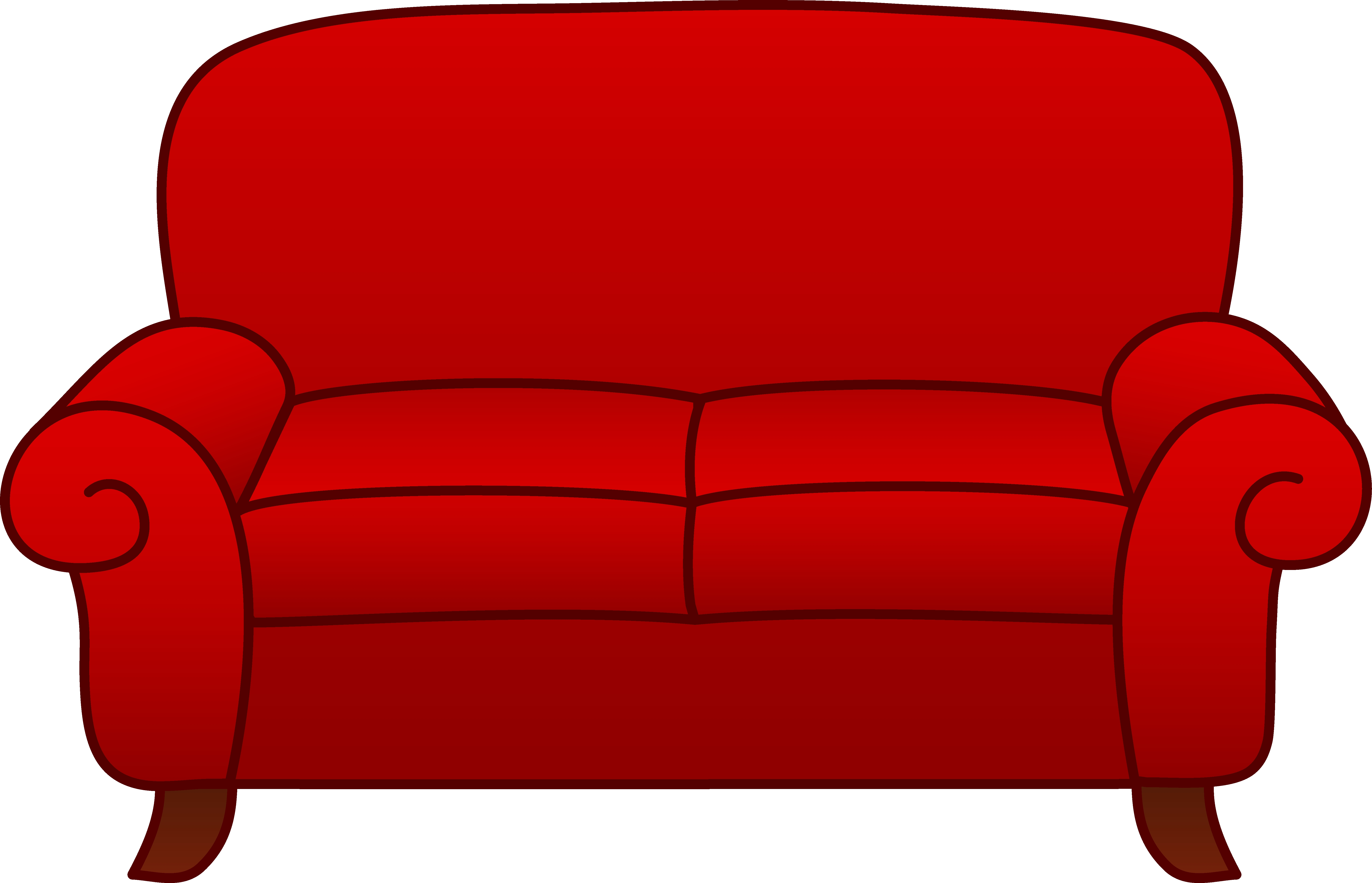 Couch clipart. Fresh collection digital c