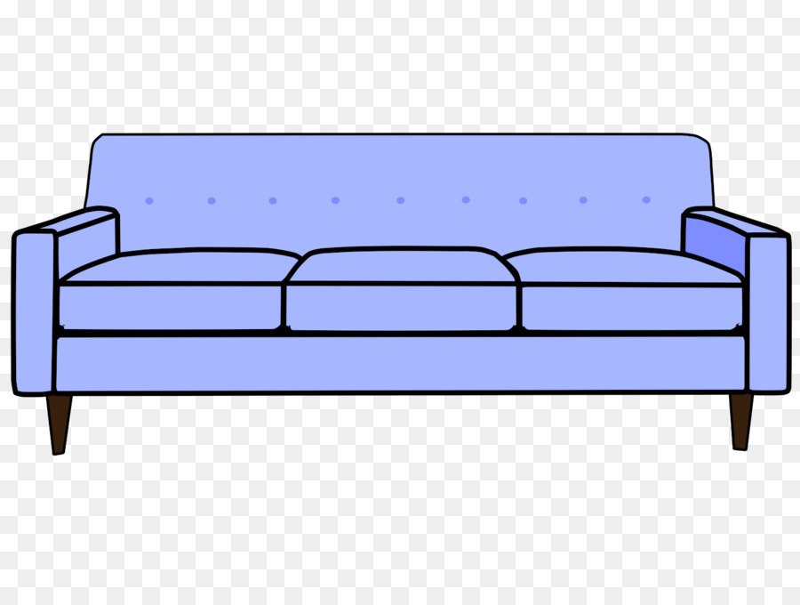 Couch clipart. Cartoon sofa bed clip