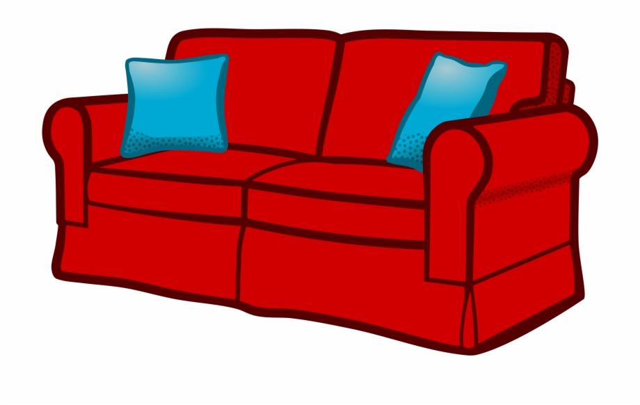 Furniture clipart couch. Sofa interior seat