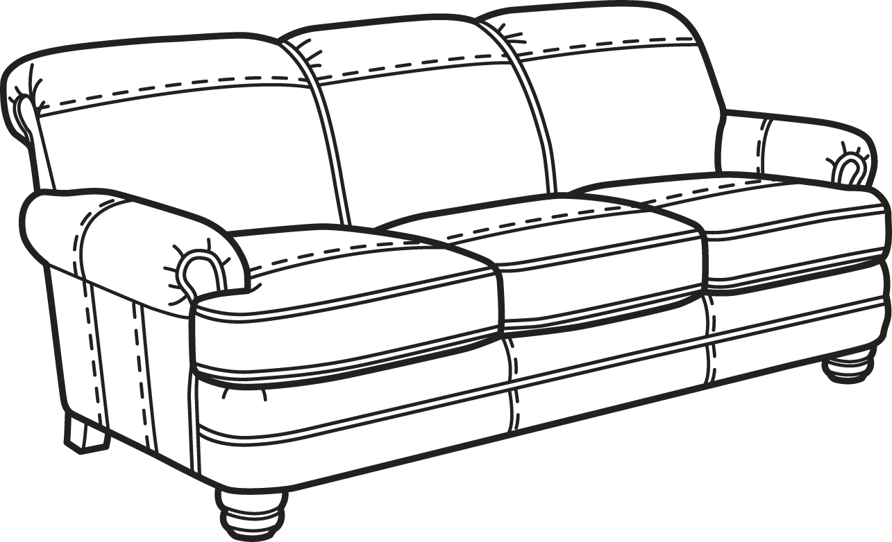 couch clipart above