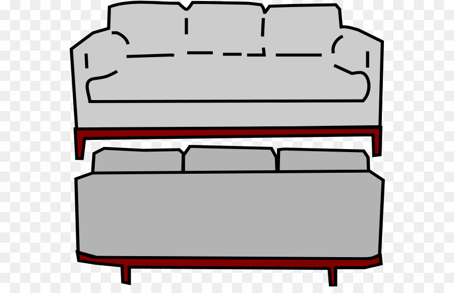 Of a drawing png. Couch clipart back couch