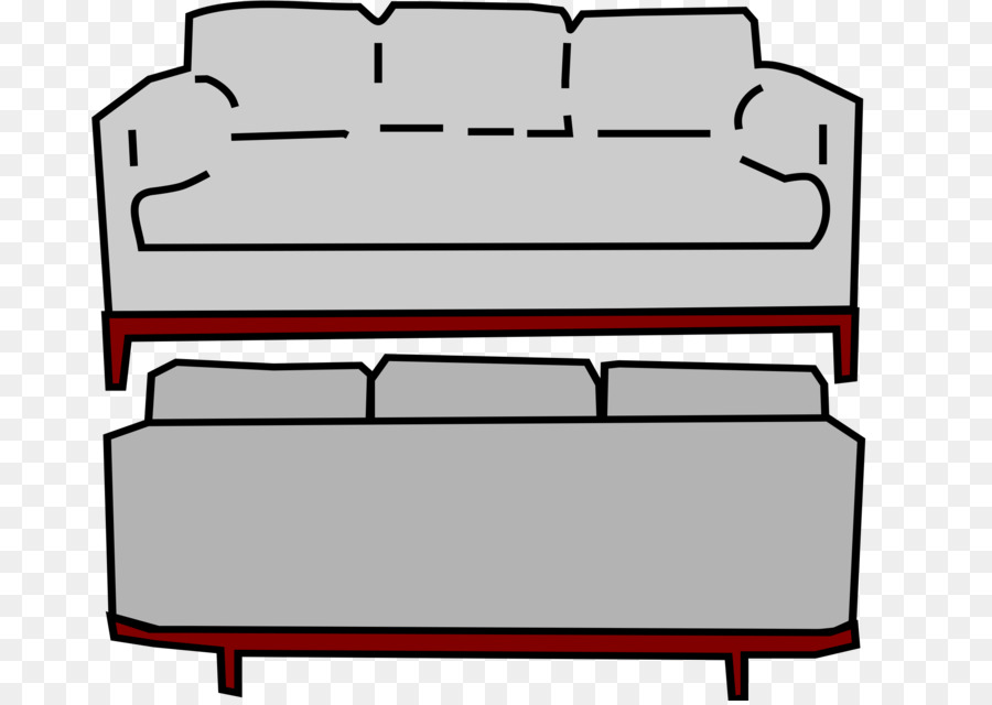 Couch clipart back couch. Table cartoon furniture transparent