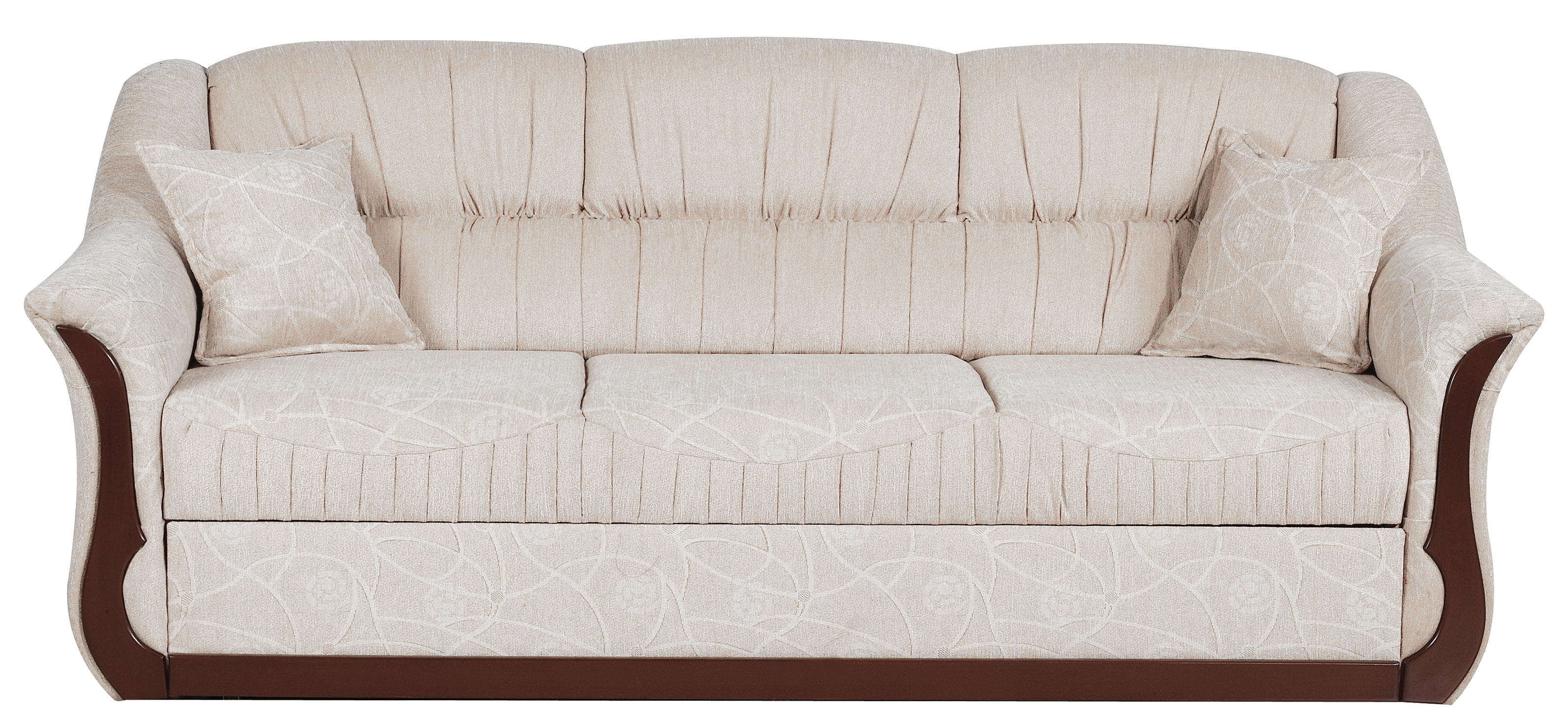 Transparent gream png picture. Couch clipart beige