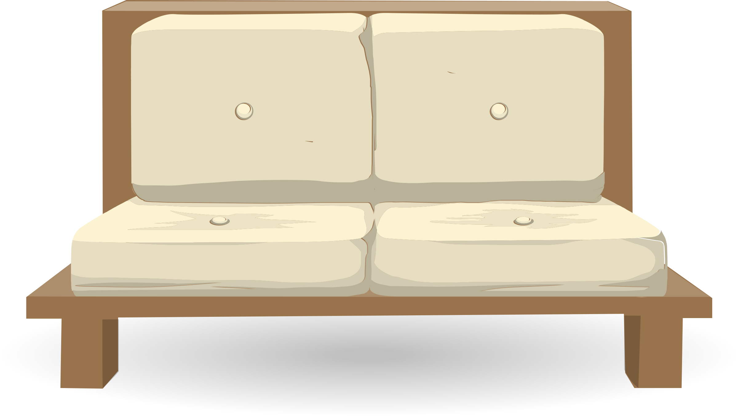 Simple sofa from glitch. Furniture clipart single couch