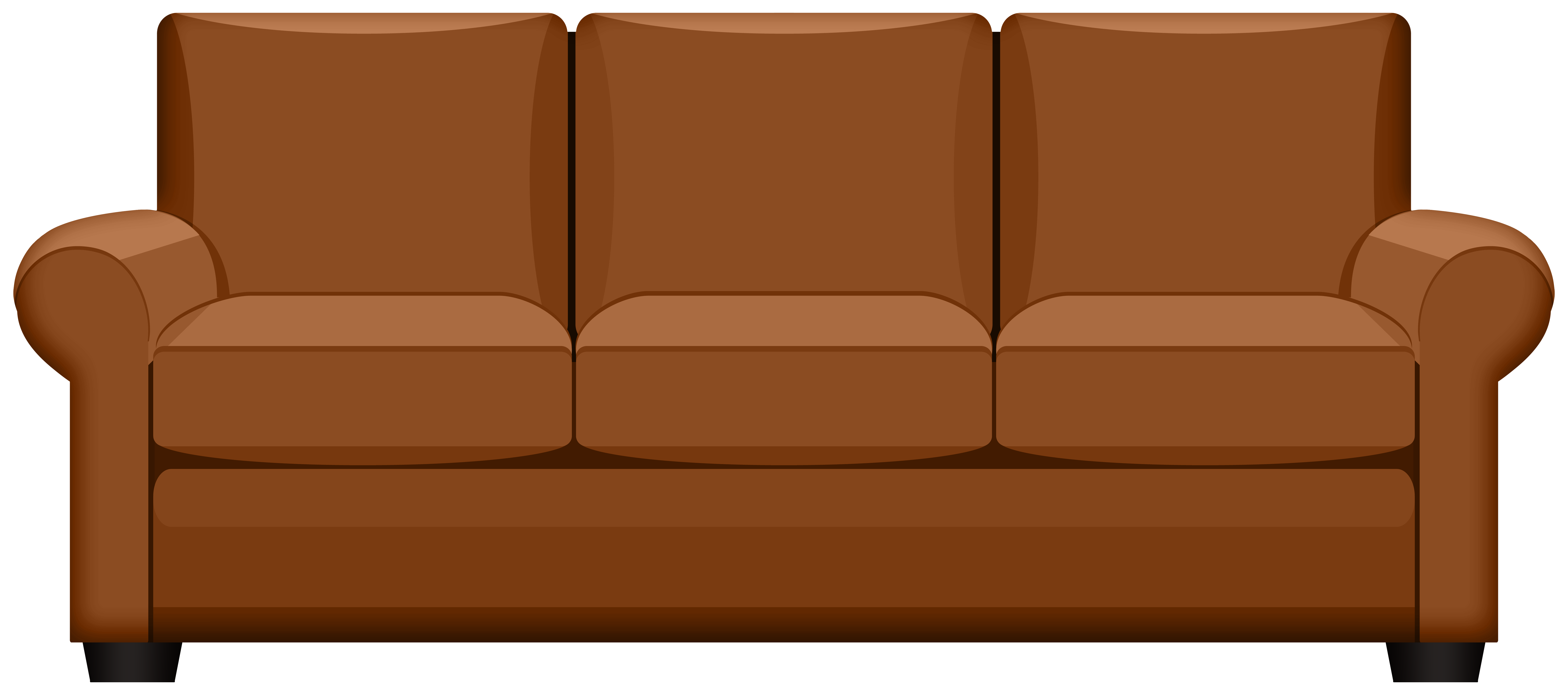 Couch clipart beige. Brown sofa png gallery