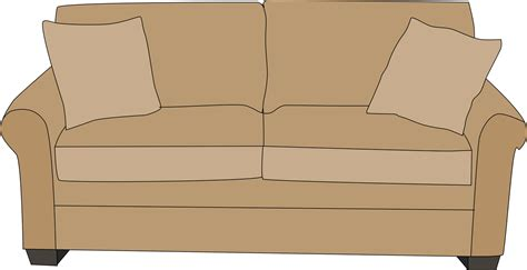 Sofa clip art pillow. Couch clipart beige