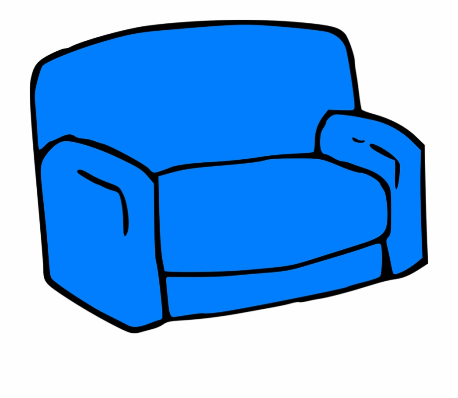Chair armchair sofa furniture. Couch clipart blue couch