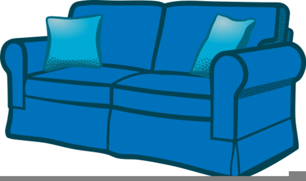 Couch clipart blue couch. Free images at clker