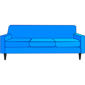 Couch clipart blue couch. Sofa cliparts of free