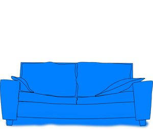Png svg clip art. Couch clipart blue couch