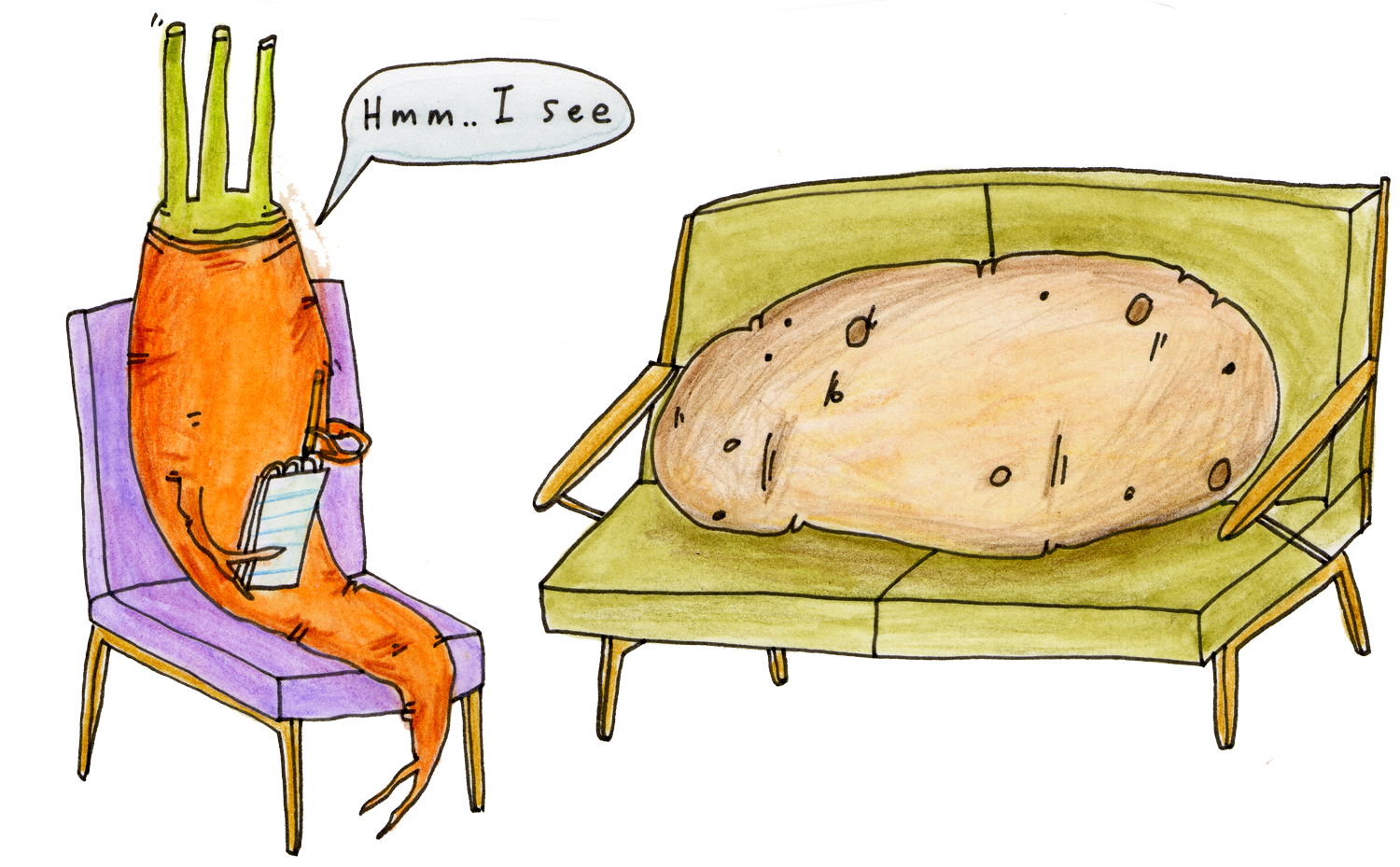 Potato southern by design. Lazy clipart couch tv