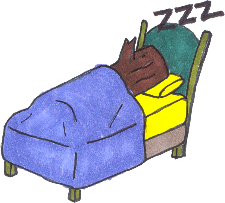 A perfect world clip. Nap clipart soft bed