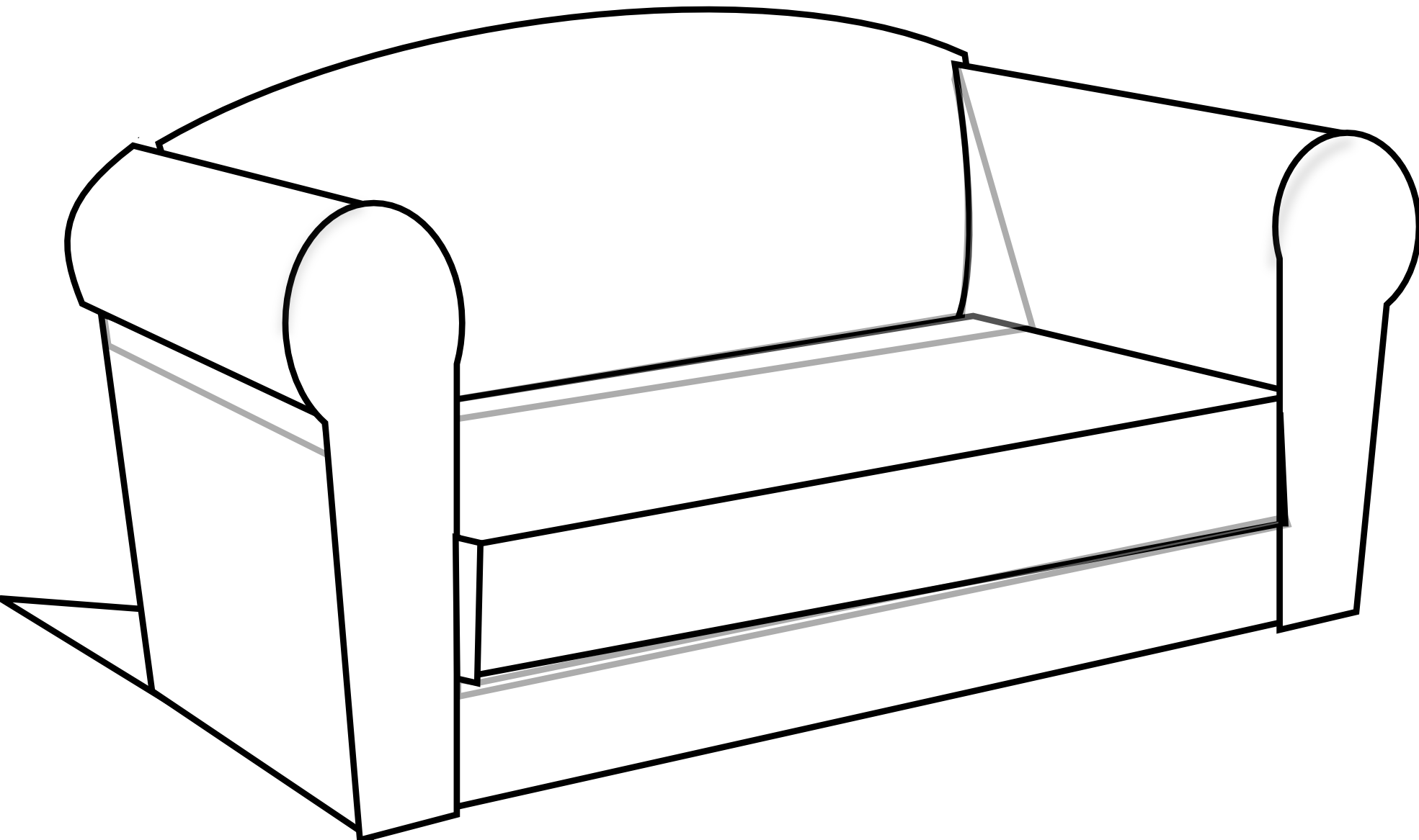 Couch clipart broken. Sofa group clipartbarn