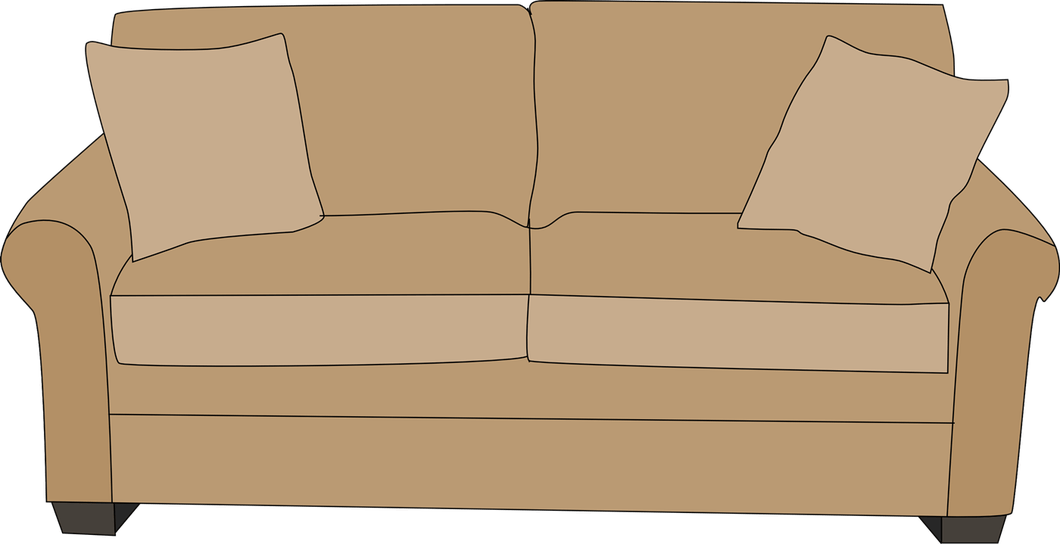 Couch clipart brown couch. Sofa functionalities net chair