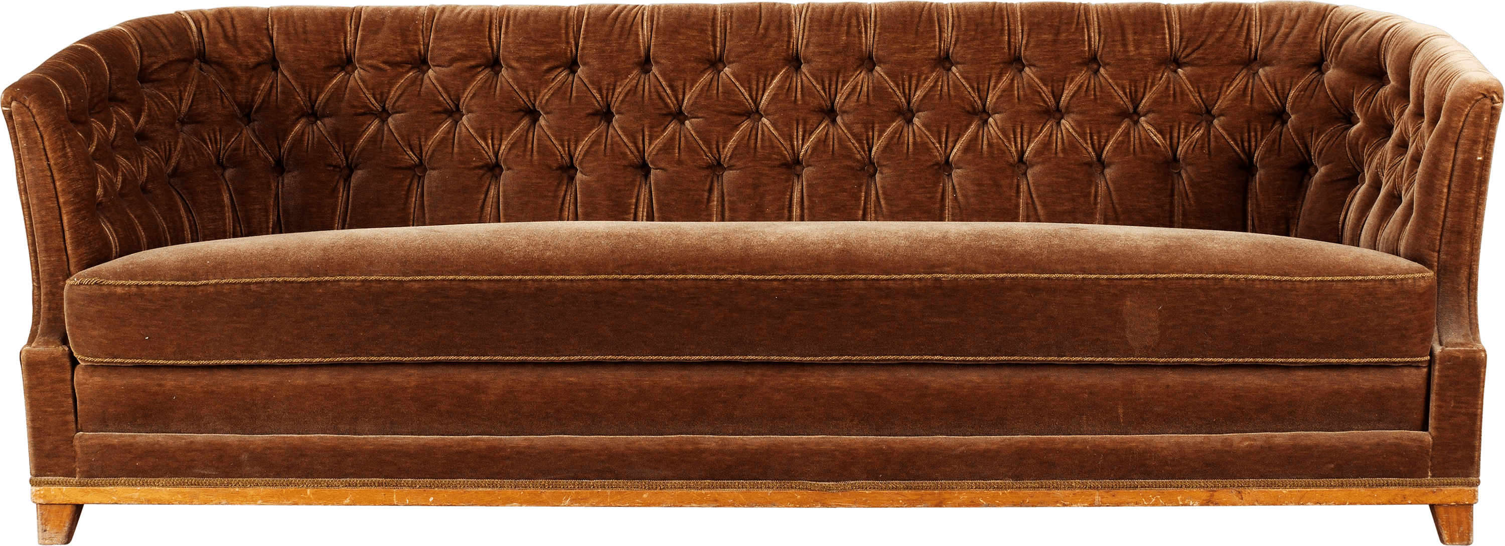 Couch clipart brown couch. Large vintage fabric sofa
