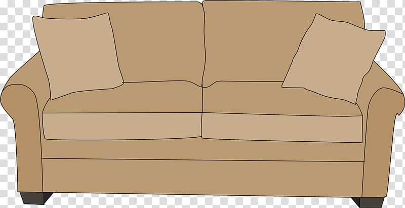 Couch clipart brown couch. Sofa art table furniture