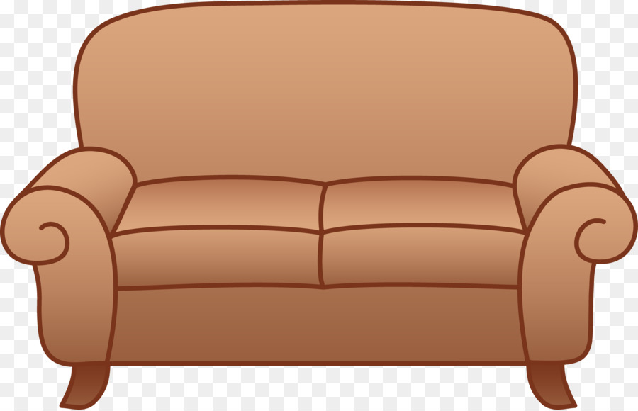 Bed cartoon furniture chair. Couch clipart brown couch