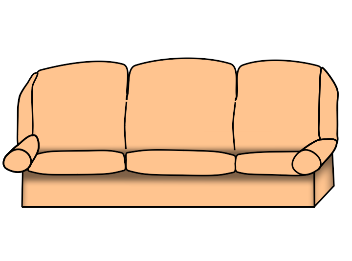 Free transparent png anime. Couch clipart carton