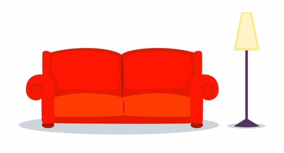Transparent chair cartoon loveseat. Couch clipart carton