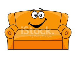 Cartoon upholstered stock vectors. Couch clipart carton