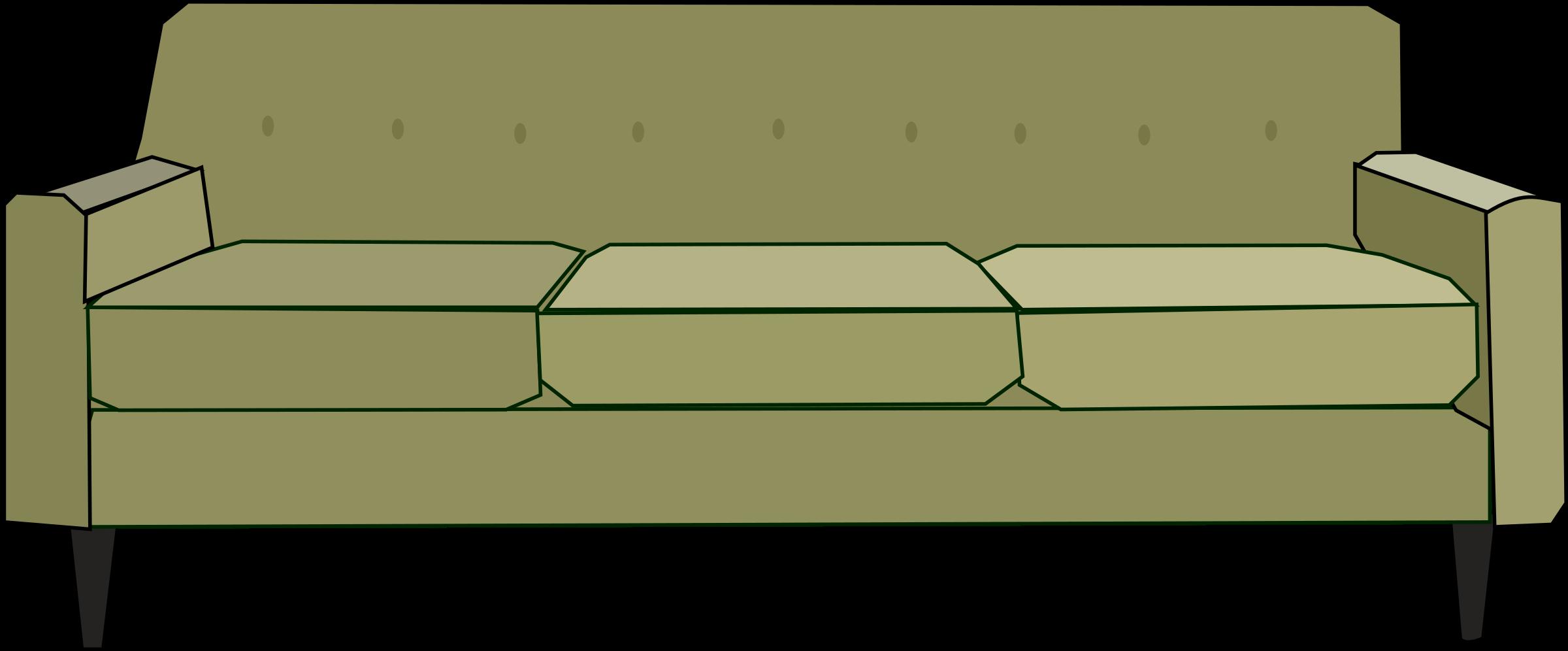 Couch clipart carton. Green sofa big image
