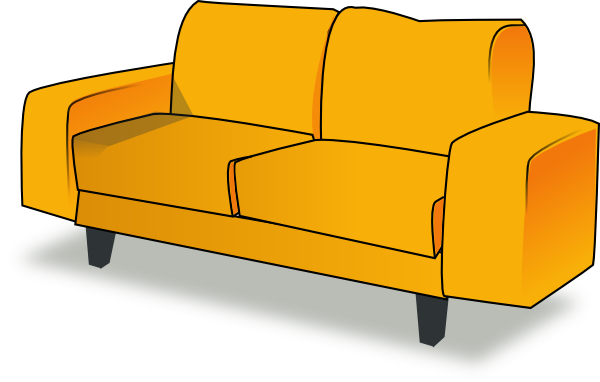 Sofa clip art at. Couch clipart comic