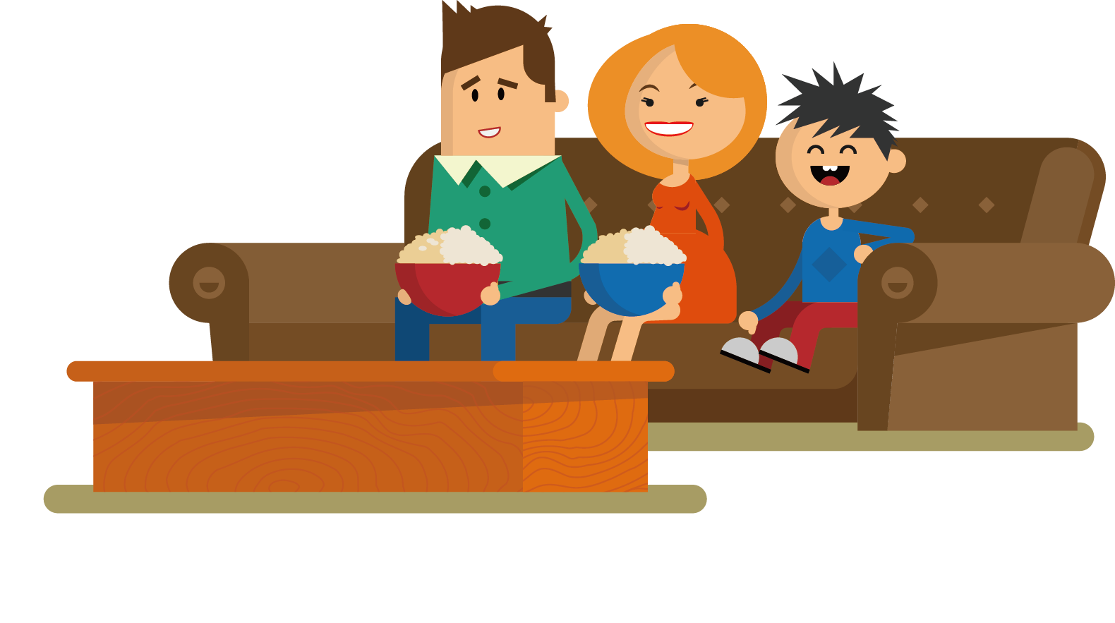 Television drawing cartoon a. Couch clipart couch tv