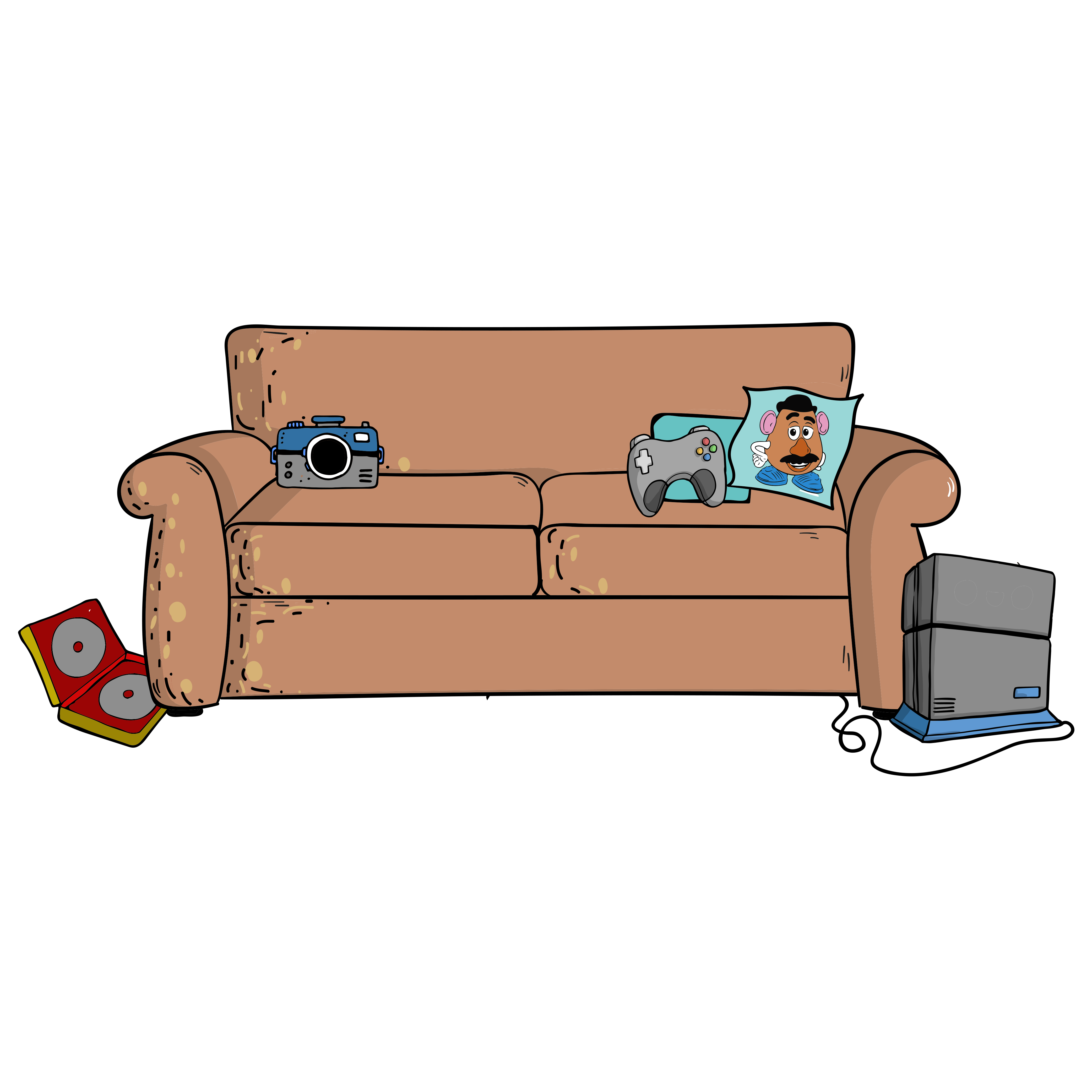 The potateaux feedmepotatoes twitter. Couch clipart easy cartoon