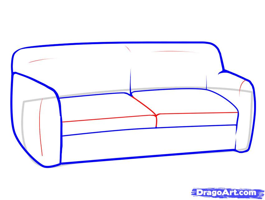 Couch clipart easy cartoon. Drawing free download best
