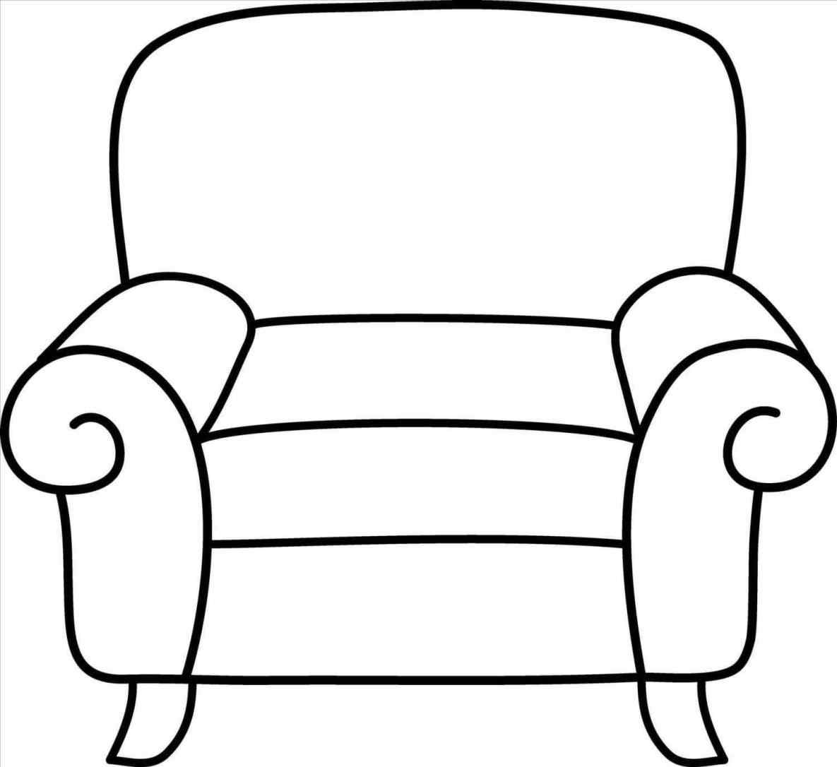 Paintings search result at. Couch clipart easy cartoon