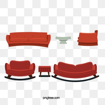 Sofa png psd and. Couch clipart free vector