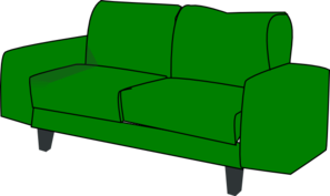 Couch clipart green couch. Sofa clip art at