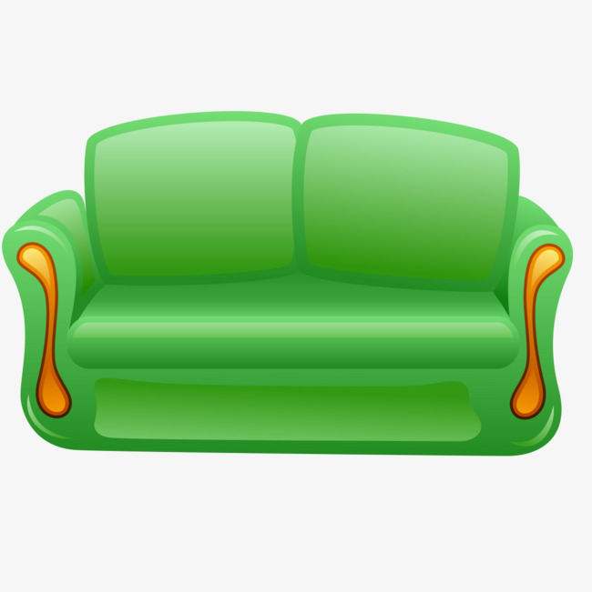 Sofa furniture . Couch clipart green couch