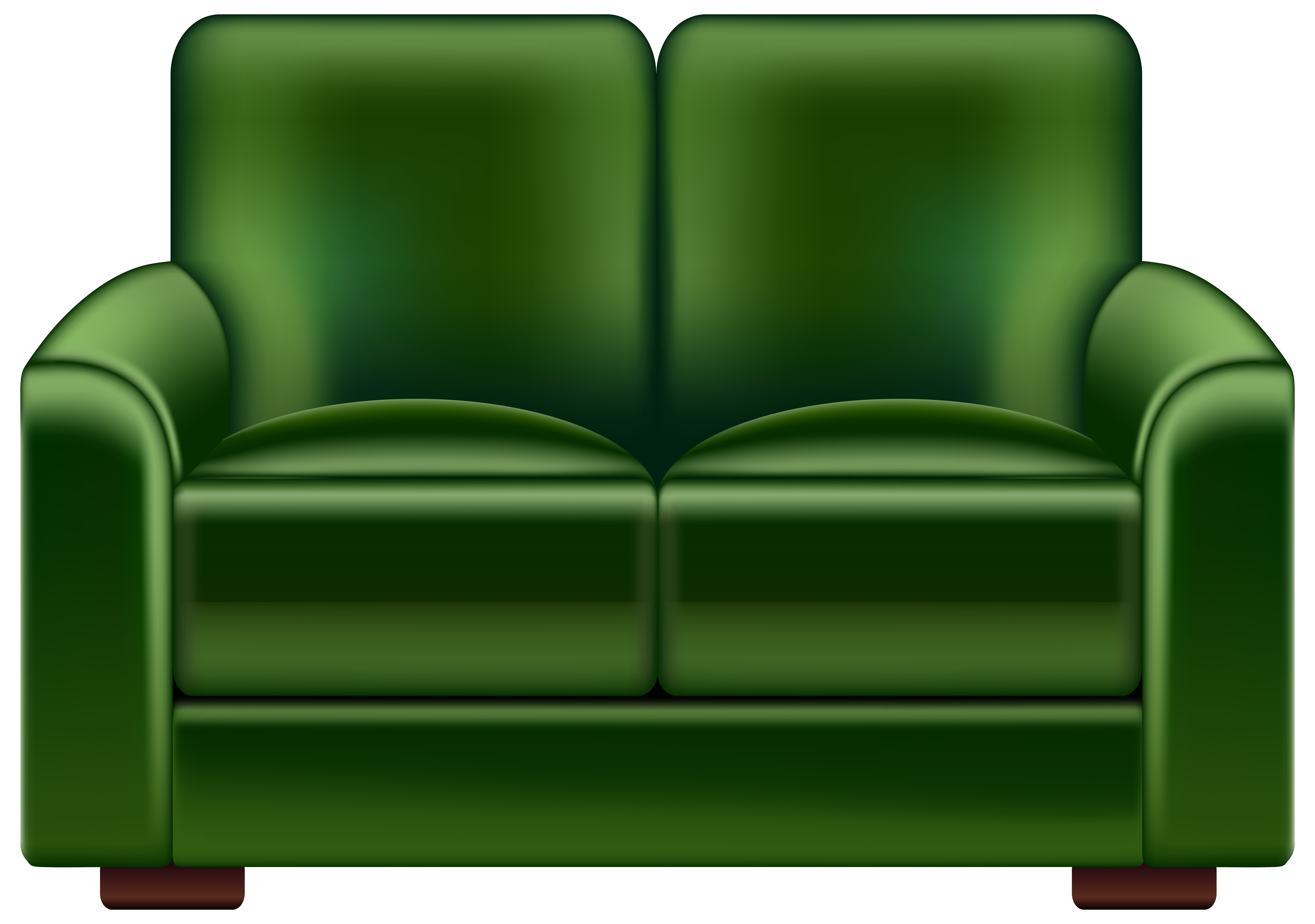 Loveseat transparent png clip. Couch clipart green couch
