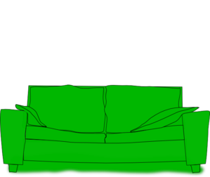 Couch clipart green couch. Clip art vector panda