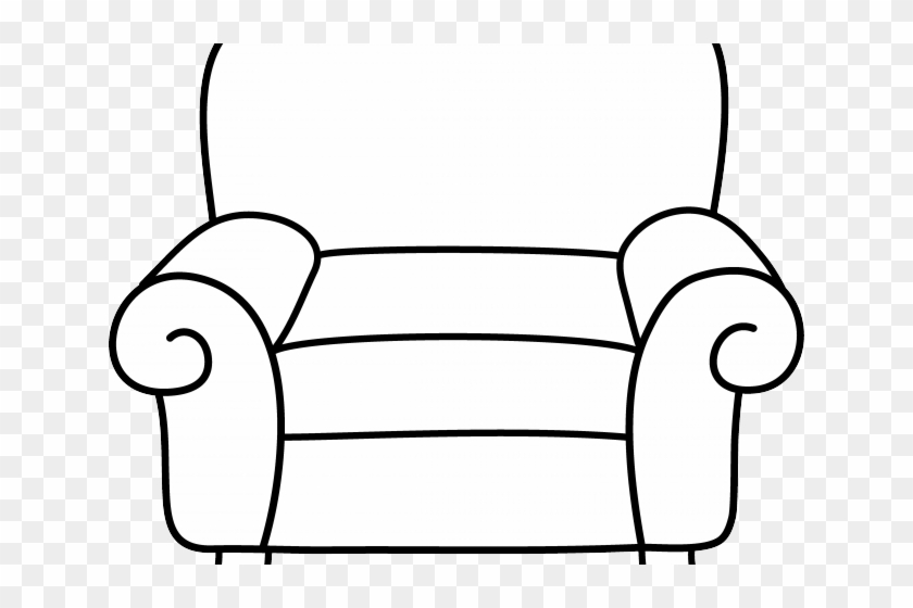 Couch clipart house furniture. Black and