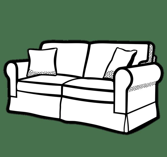 Couch clipart house furniture. Sofa set thecreativescientist com