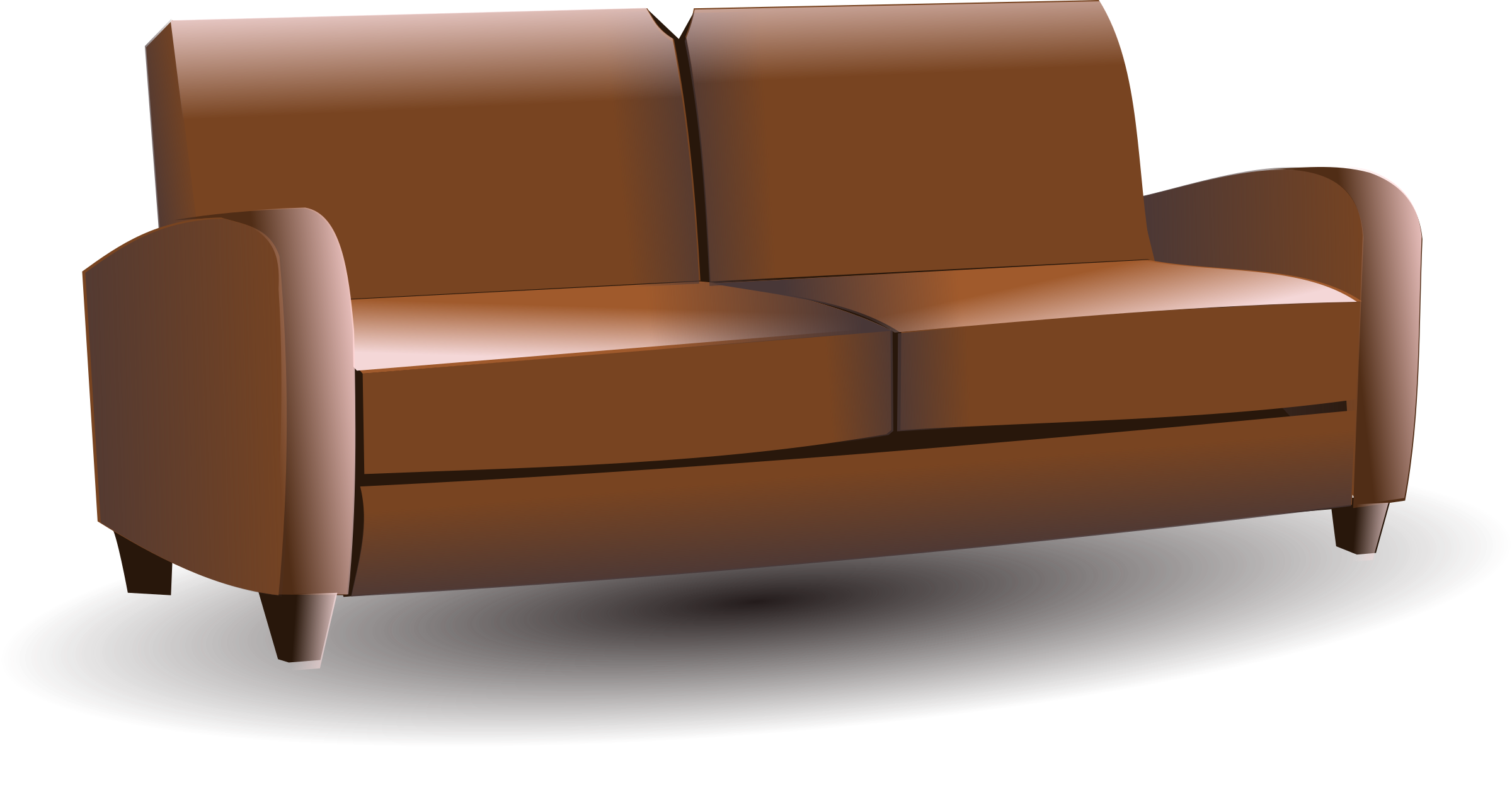 Sofa big image png. Couch clipart household furniture