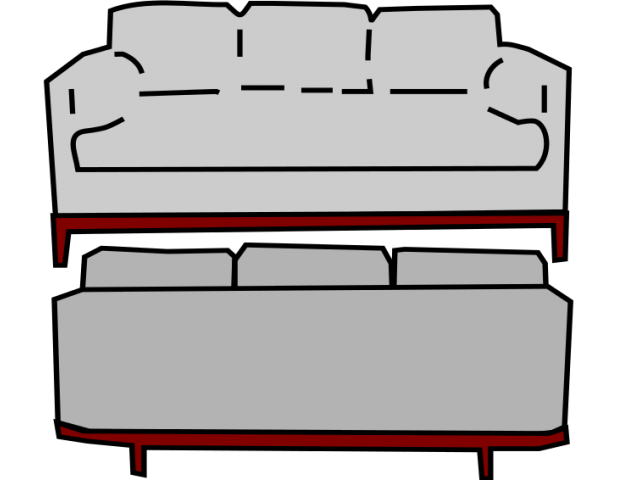 draw huge freebie. Couch clipart household furniture