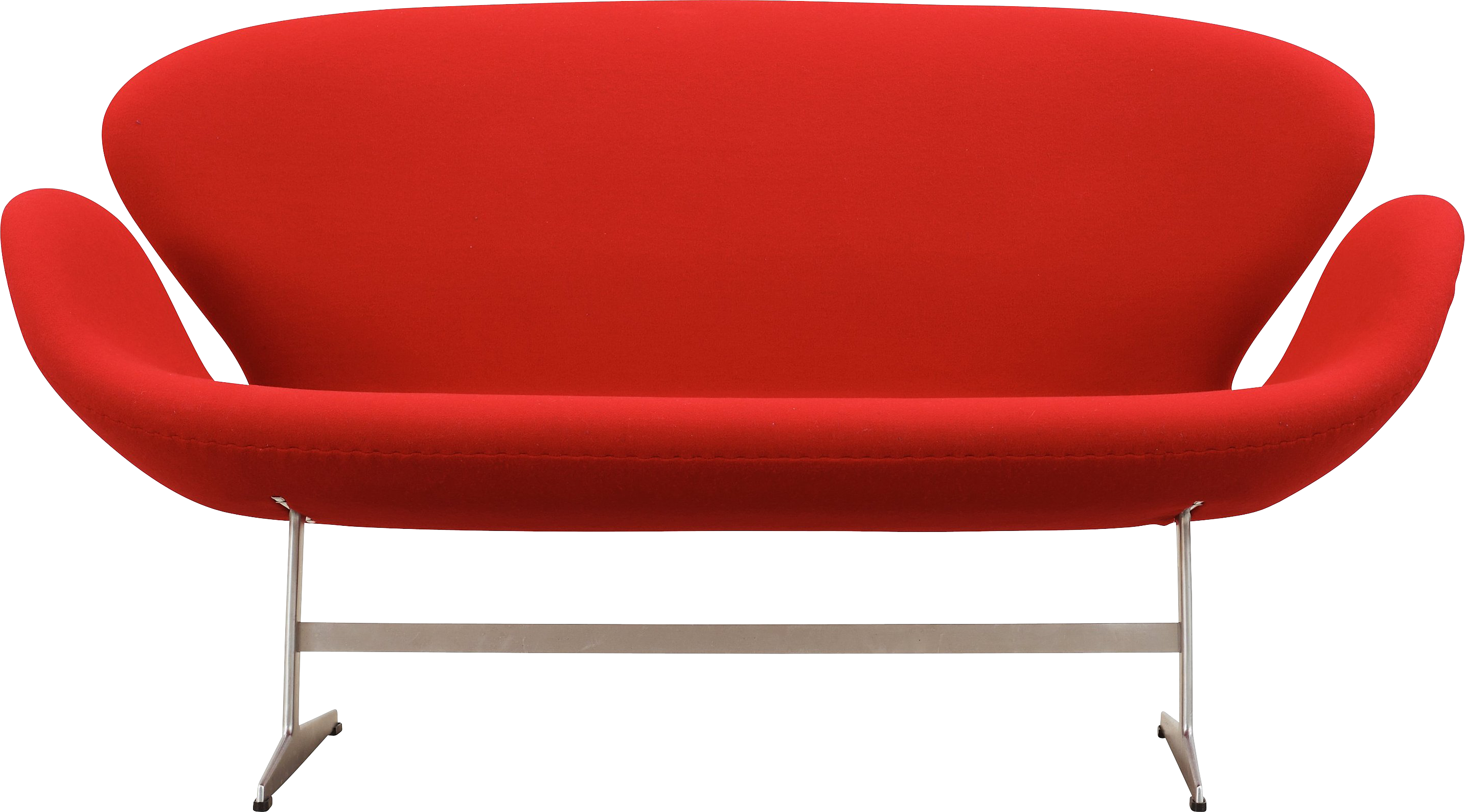 Furniture clipart single couch. Red sofa png image