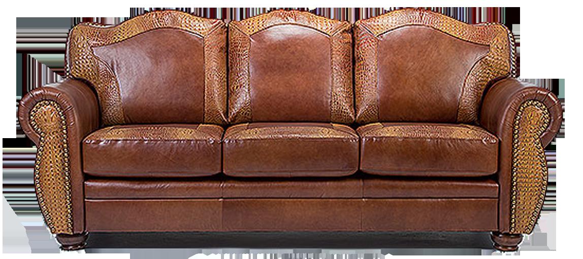 Couch clipart leather sofa. Alligator sofas crocodile exotics