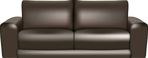Couch clipart leather sofa. Free brown sofas and
