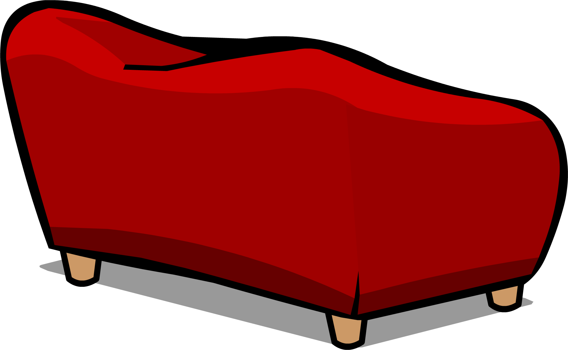 Image red plush sprite. Couch clipart lie on couch