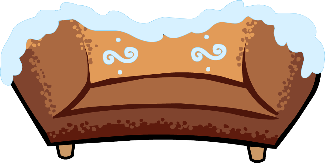Couch clipart lie on couch. Gingerbread club penguin wiki