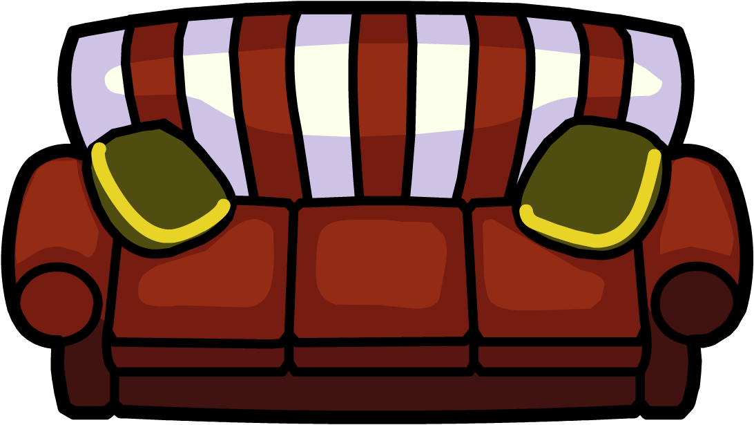 Holly jolly club penguin. Couch clipart lie on couch
