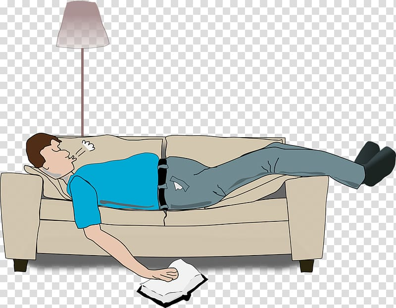 Sleep mattress loveseat lying. Couch clipart lie on couch