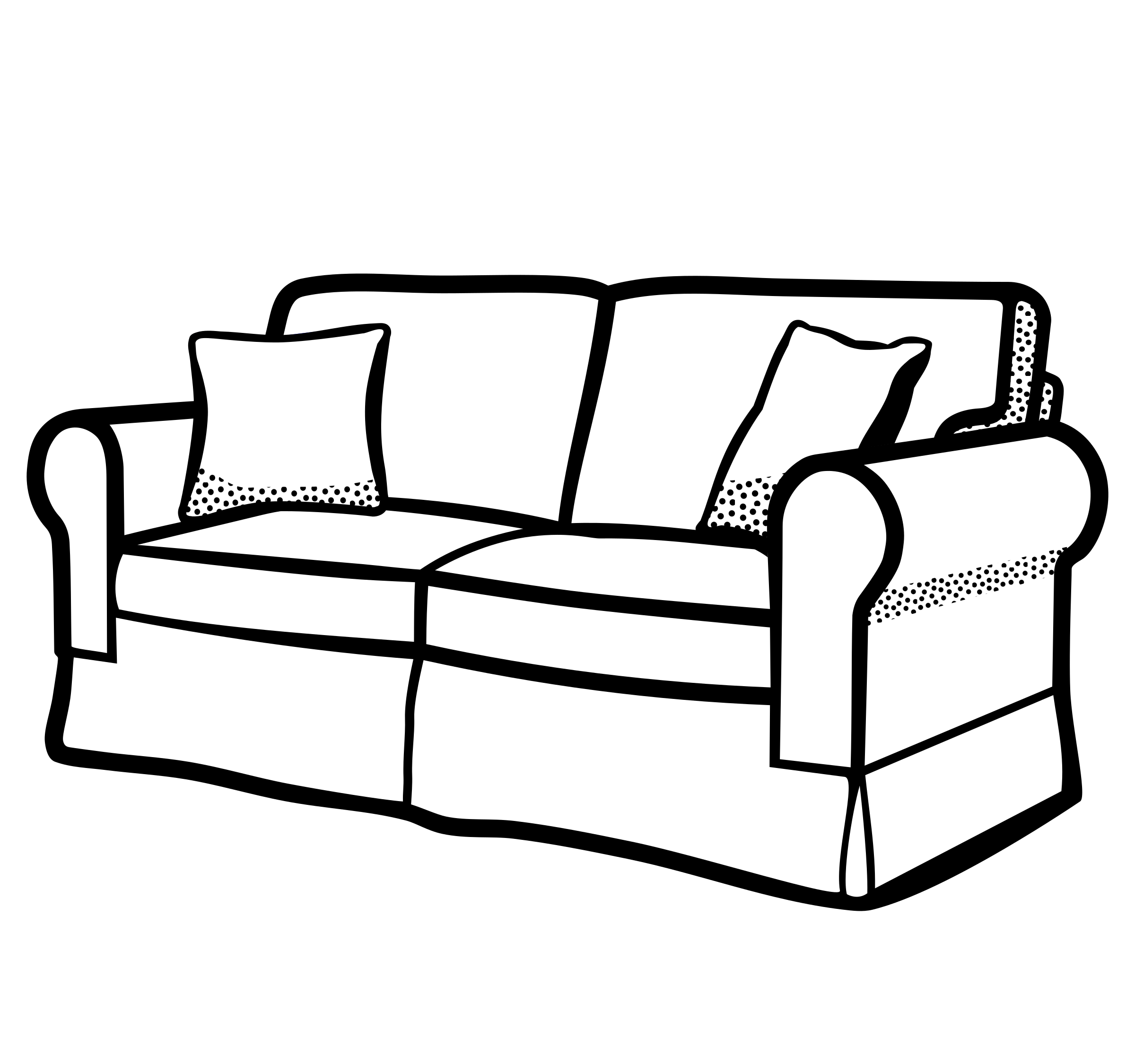 Lineart big image png. Furniture clipart fancy sofa