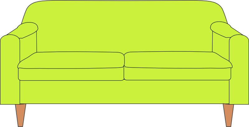 Couch clipart line art.  benefits of recoloring